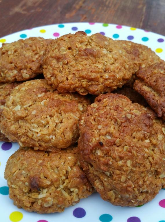 anzac cookies, rachel patterson, kitchen witch, practically pagan cooking