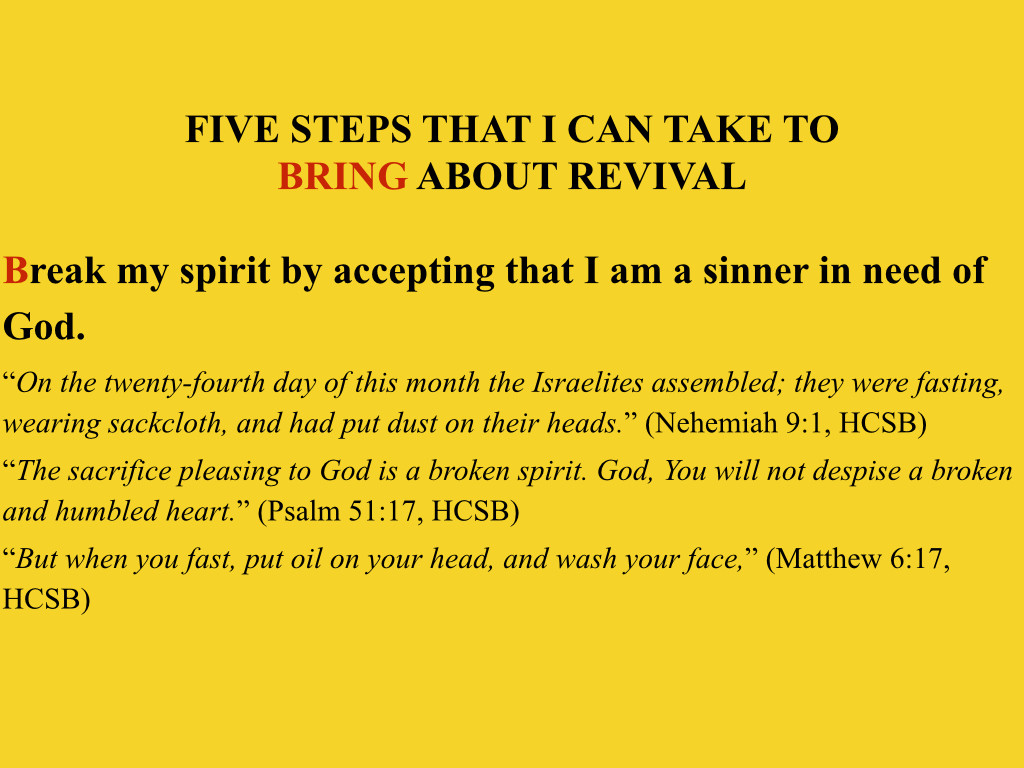 Manual Four Steps to Revival: Preparing the Body of Christ for the