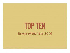 Top Ten Events of the Year 2016