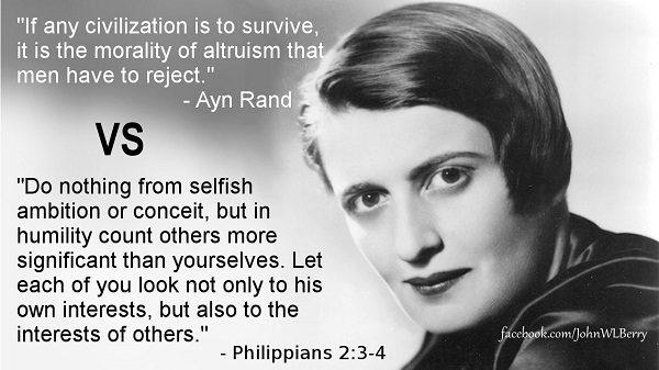 Ayn Rand vs Jesus