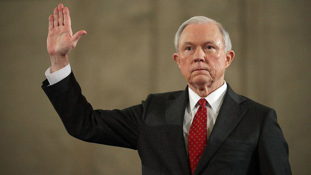 Jeff Sessions Swearing To Tell The Truth