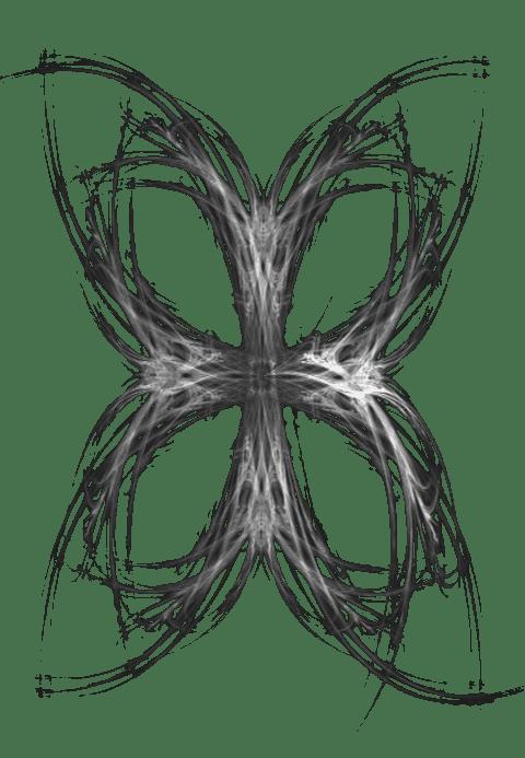 fractal cross, bw