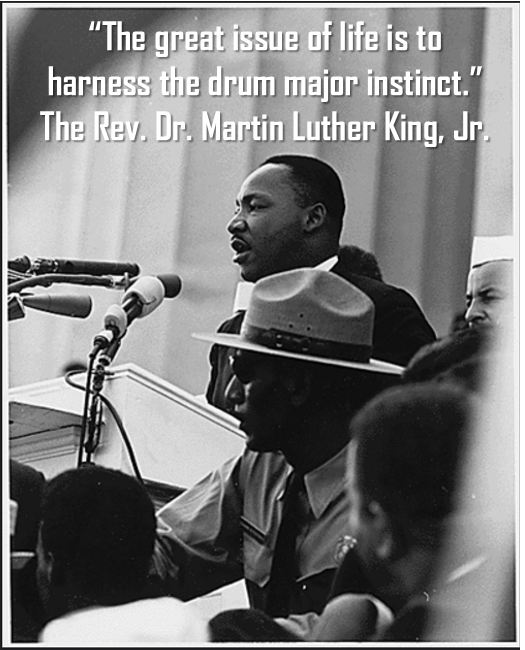 martin luther king, drum major instinct