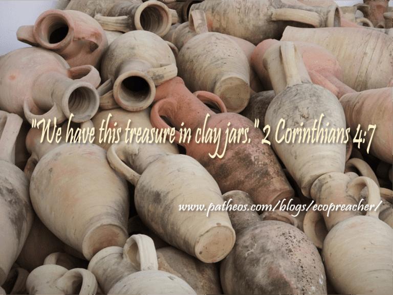 clay jars, 2 corinthians