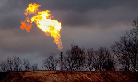 Leo blog : A gas flare burns at a fracking site in rural Bradford County Pennsylvania