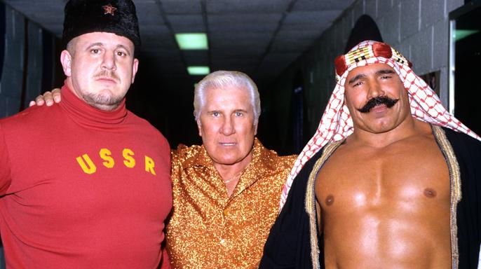Freddie Blassie with Nikolai Volkoff and The Iron Sheik. http://www.wwe.com/classics/classic-lists/top-25-managers