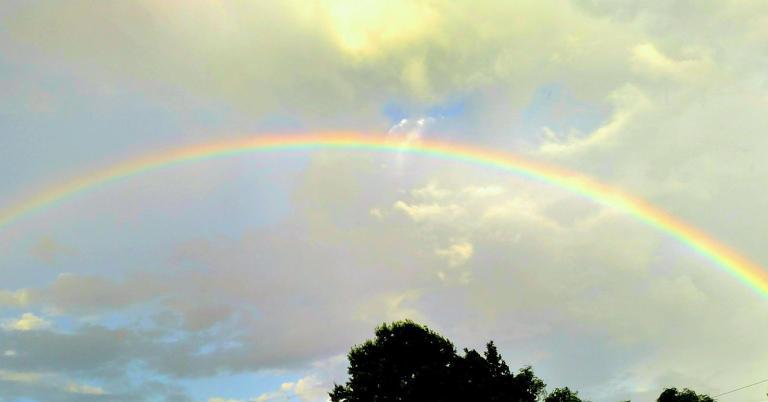 Rainbow. Photo by Leah D. Schade. Pubic Domain.