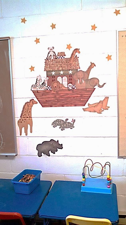 Noah's ark in nursery