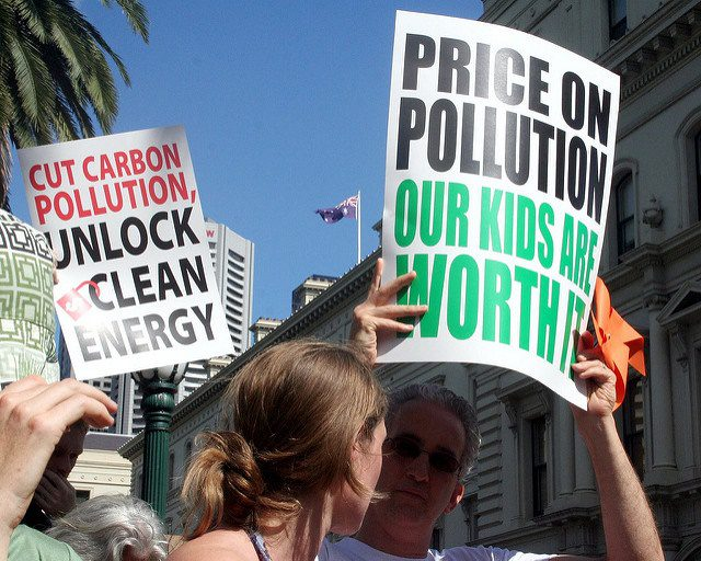 "Price the Polluters Rally - Price on pollution our kids are worth it. Australia, 2012. Photo credit: ""Takver"" on flickr.com. Some rights reserved."