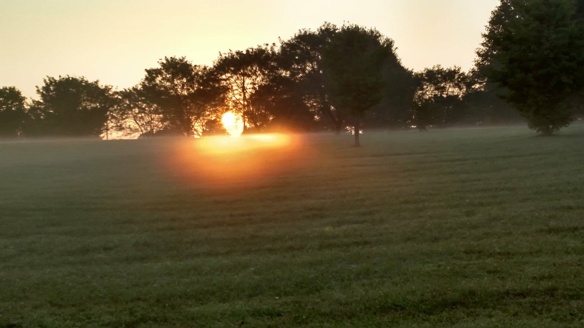 Dawn at Kirklevington Park, Lexington, KY. Photo credit: Leah D. Schade. All rights reserved.