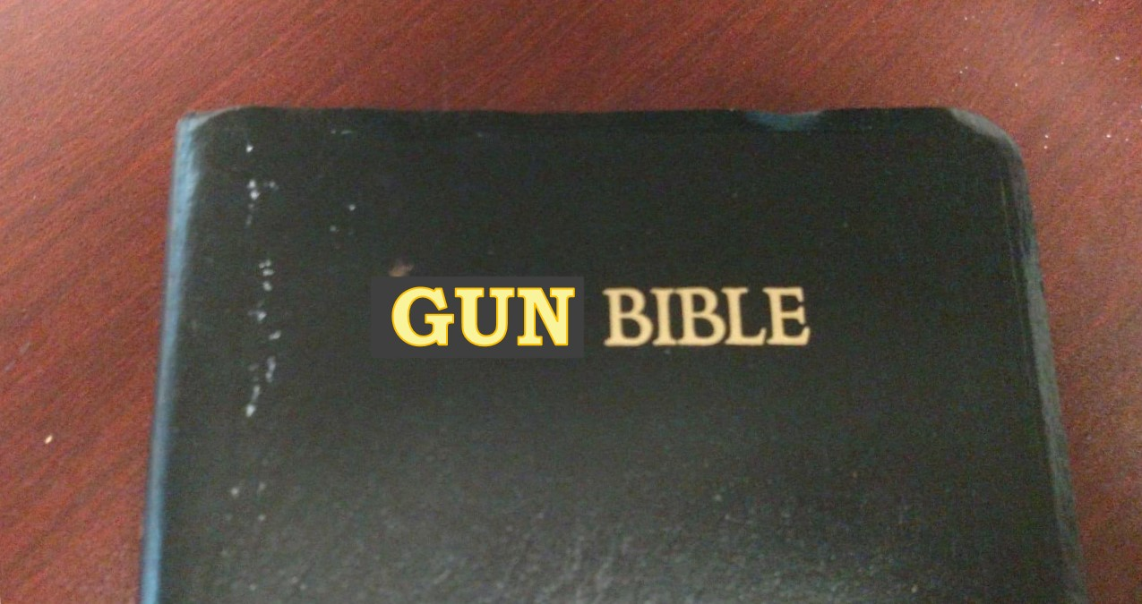 Gun Bible. Image created by Leah D. Schade. All rights reserved.