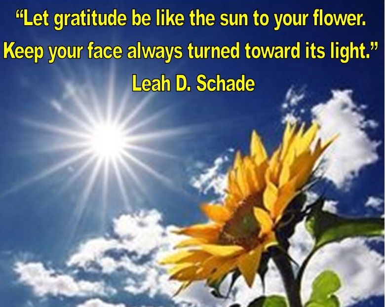 Gratitude. Image created by Leah D. Schade. All rights reserved.