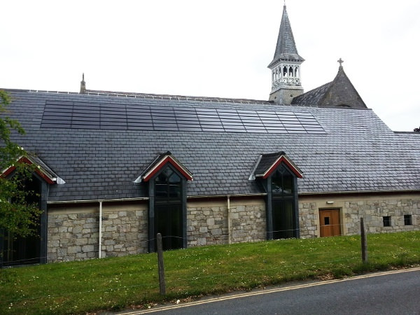 solar panel on church