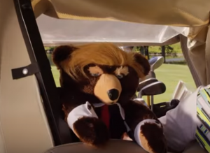 Trumpy Bear golfing