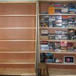 empty bookshelves