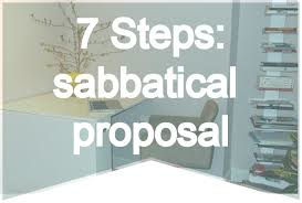 sabbatical proposal