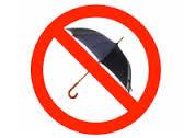 no umbrellas