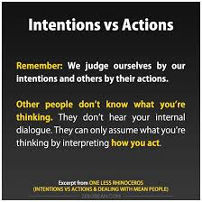 intentions and actions