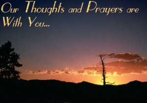 our thoughts and prayers