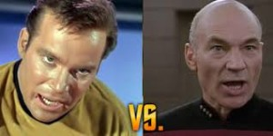 Kirk and Picard