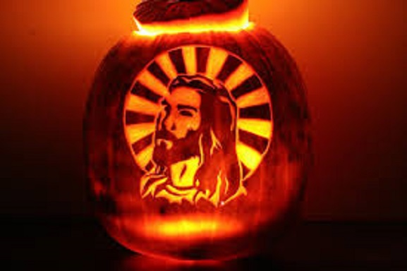 Jesus pumpkin 2