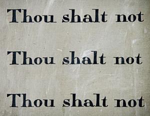 Ten commandment writings