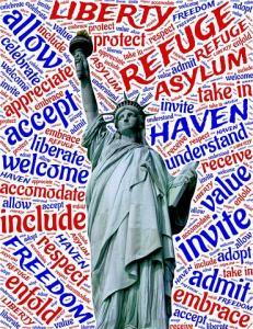 post 42 Trump unchristian statue liberty