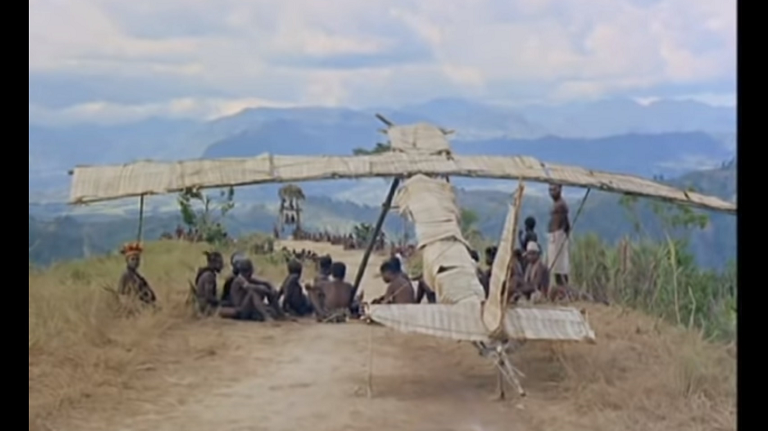 Mock plane made by a cargo cult.