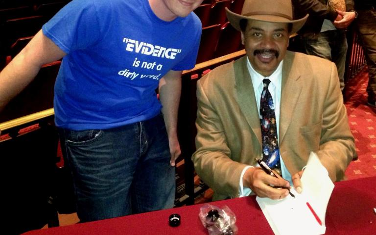 Me with Tyson in 2013.