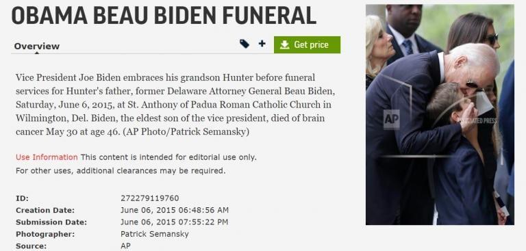 Screenshot from Associated Press Images