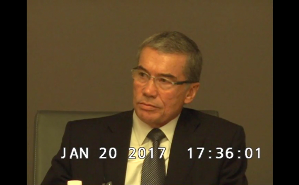 Bruce Jessen during his deposition for the suit alleging he approved torture tactics.