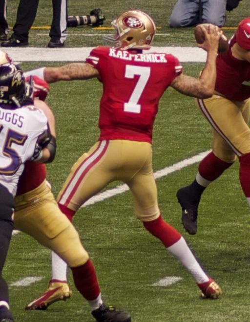 NFL quarterback Colin Kaepernick.