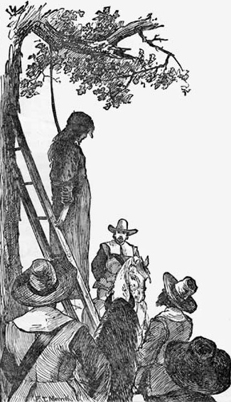 The execution of Ann Hibbins for witchcraft in Massachusetts Bay Colony. Obtained through Creative Commons.