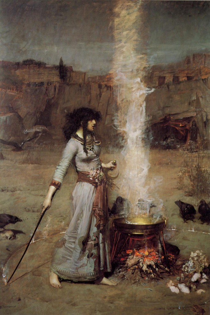Magic Circle by John W. Waterhouse, from Wikimedia Commons