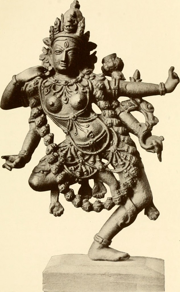 Dancing with the darkness: Kali. From Wikimedia Commons.