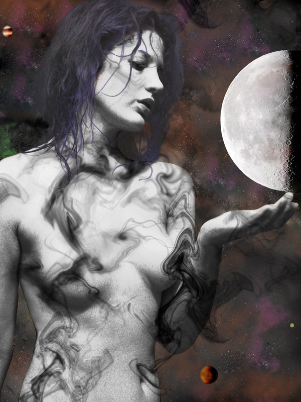 moon dark goddess pagan wiccan woman