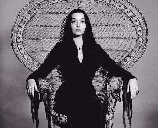 morticia addams witch pagan wiccan goth