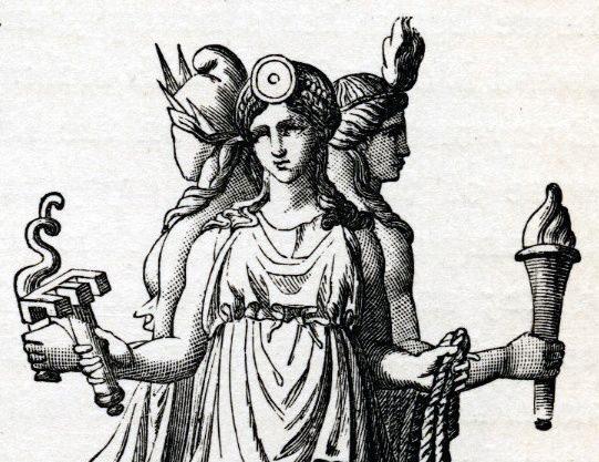 hecate hekate triple goddess crossroads pronounce pronunciation