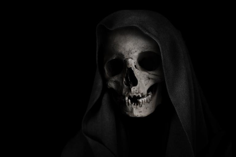 Death Skeleton Skull Face Grim Reaper Background