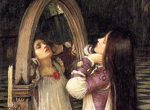 witch mirror magic spell pagan wicca waterhouse painting mariana in front of the mirror detail