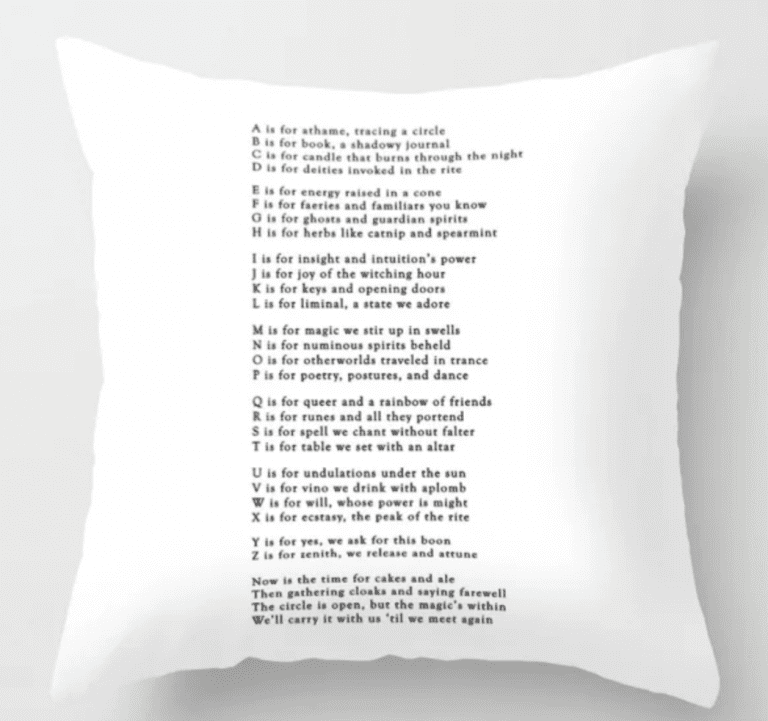 abcs of witchcraft pillow society 6 intuitive witch pagan wicca