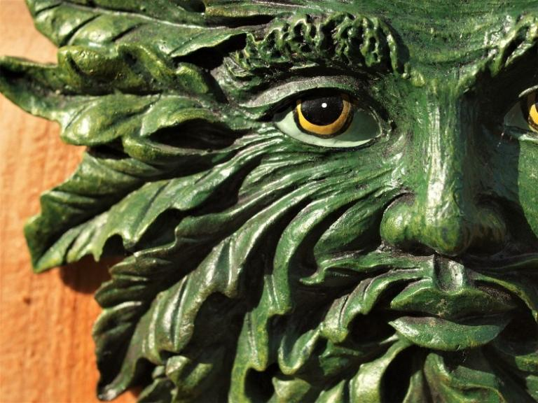 green man see faces leaves trees pagan witch pareidolia