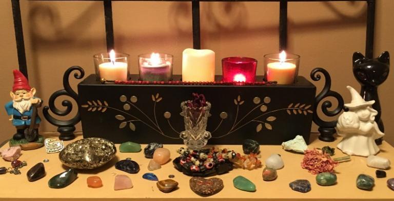 photo home altar magic magick create pagan witch hearth