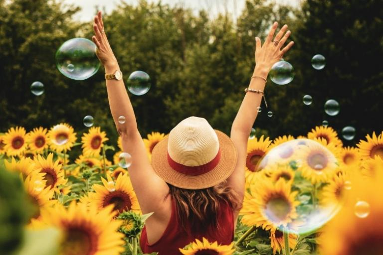 new moon leo shine sunflower pagan witch astrology | Astrea Taylor