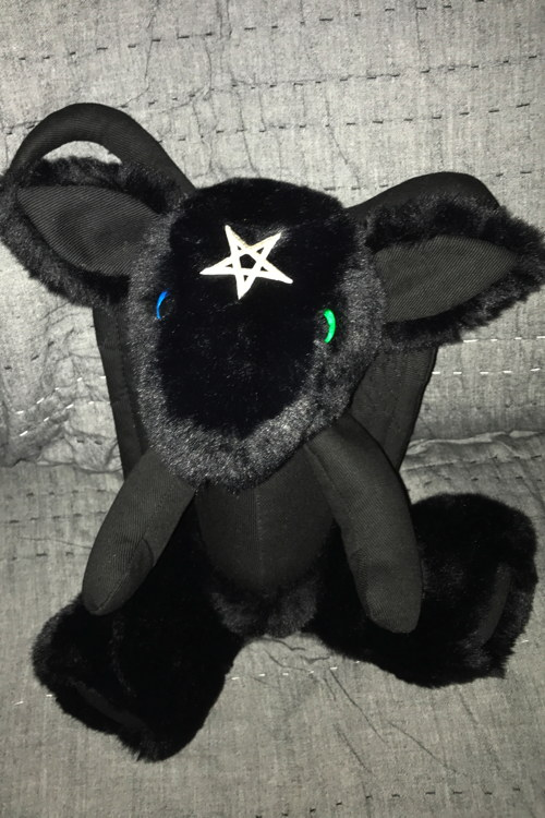 Also, there are adorable plushies. Who doesn't love plushies? (Baphomet plushie by Quiet Alertness.)