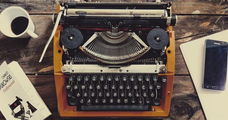 Not on a typewriter, mind you, but still. (Photo by Pereanu Sebastian on Unsplash.)