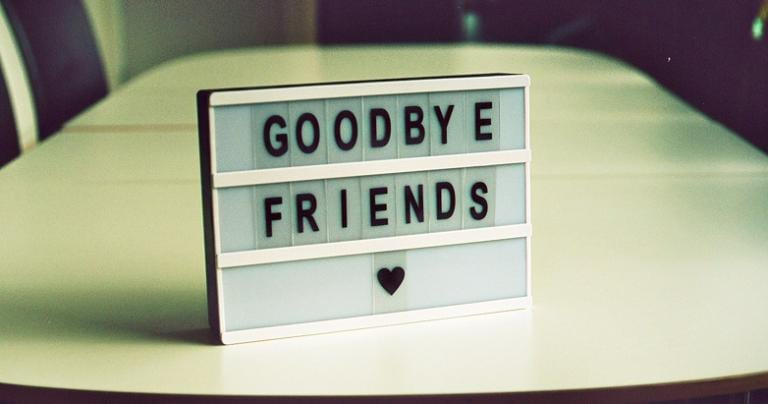 Goodbye, friends. ♥