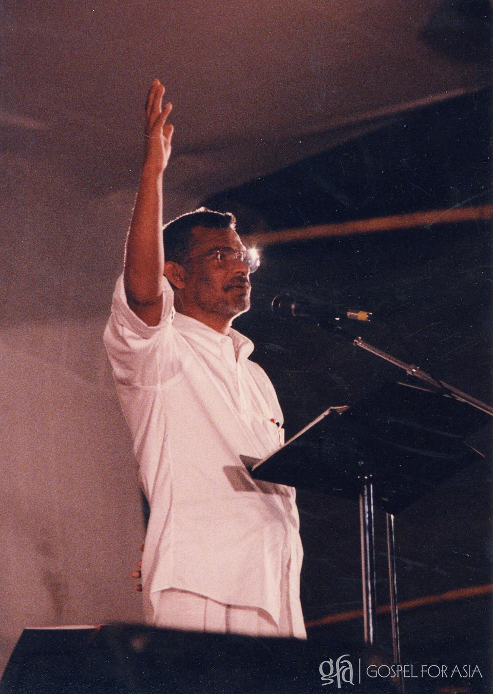 KP Yohannan at a radio rally