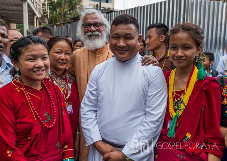 Manja Tamang and his family - KP Yohannan - Gospel for Asia