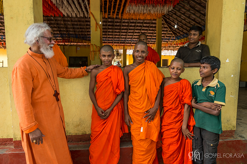young Buddhist boys after a flood relief - KP Yohannan - Gospel for Asia